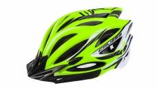 Helmet Crussis, neon yellow / white / black